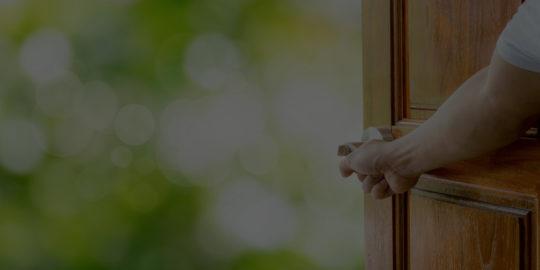 locked door at home